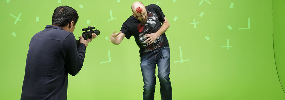 zombie-attack-greenscreen-studio-shoot